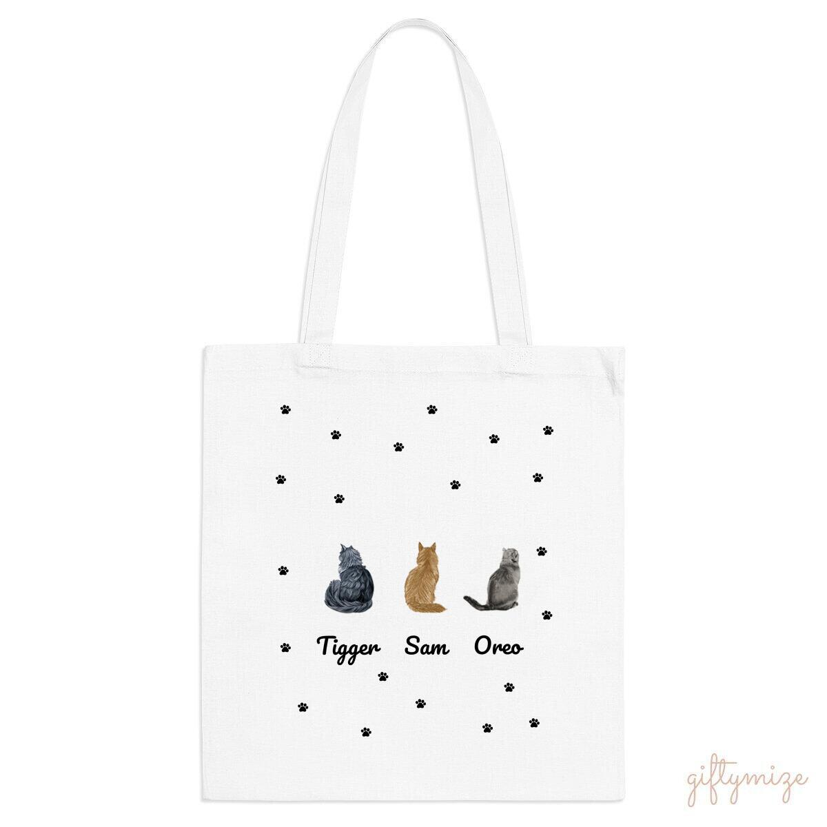 Cat Squad Personalized Tote Bag - Name and Cat can be changed