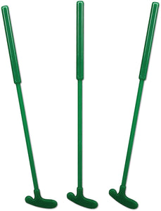 "Royer 6"" Golf Putter Swizzle Sticks, Drink Stirrers, Green, Set of 24 - Made in USA (Green)"
