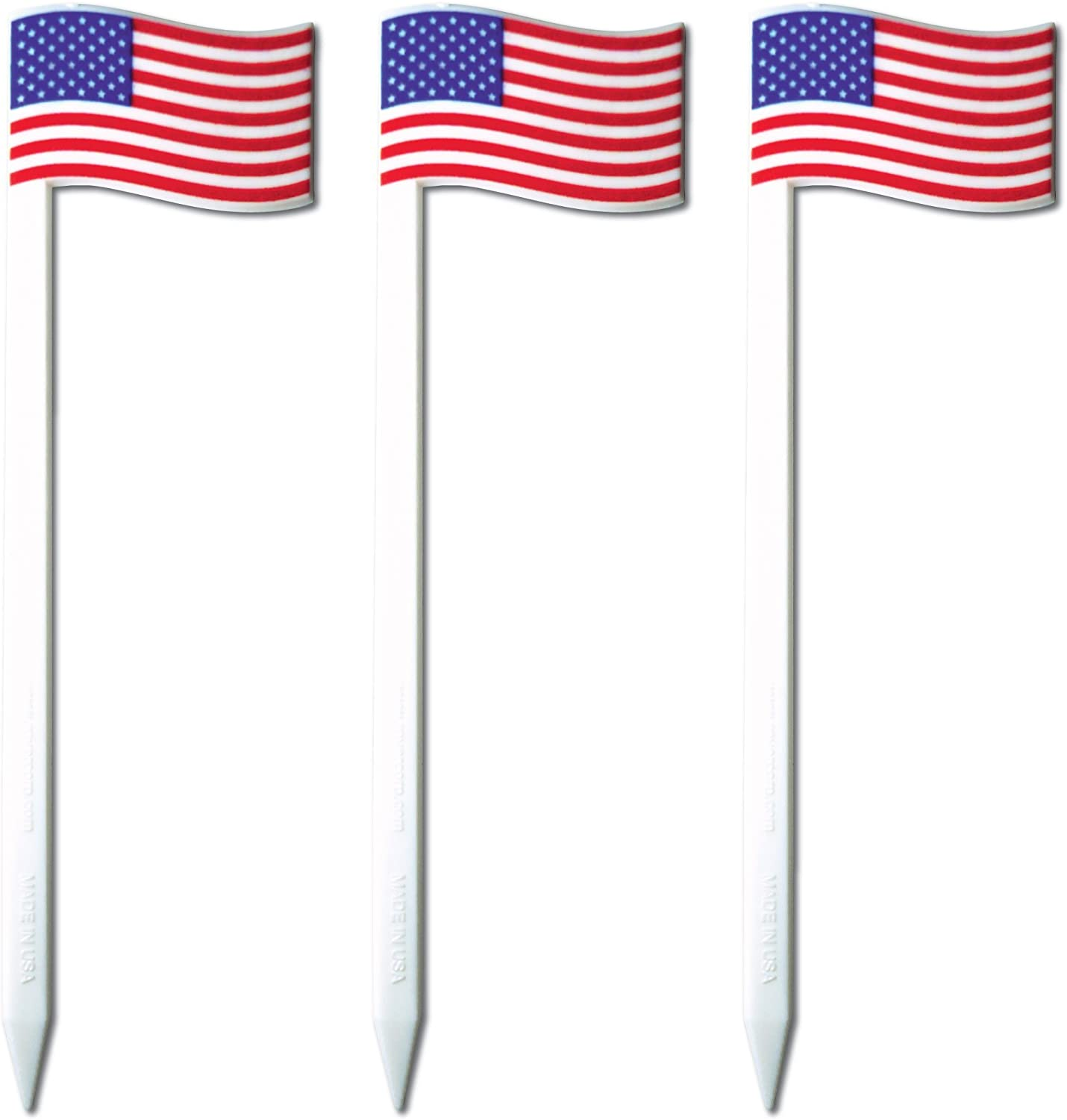 Royer 4.5 American Flag Cocktail /& Sandwich Picks//Skewers Set of 24 Made In USA
