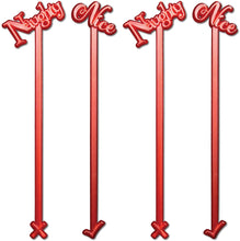 "Royer 6"" Plastic Naughty or Nice Christmas, Holiday Swizzle Sticks, Set of 24 - Made in USA"