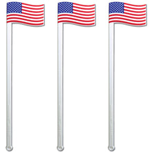 "6"" American Flag, Patriotic Swizzle Sticks, Case of 2,500"