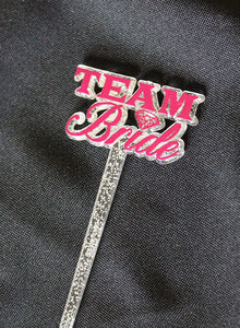 "Royer 5"" Glitter-Infused Team Bride, Bachelorette Party Picks For Drinks, Cocktails, Food, Appetizers, 24 per bag—Made in USA"