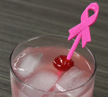 "Royer 6"" Cancer Awareness Ribbon Swizzle, Set of 24, Made in USA"