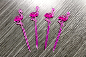 "Royer 4.5"" Pink Flamingo Picks, Set of 72 - Made in USA"