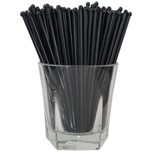 Black Round Swizzle Sticks