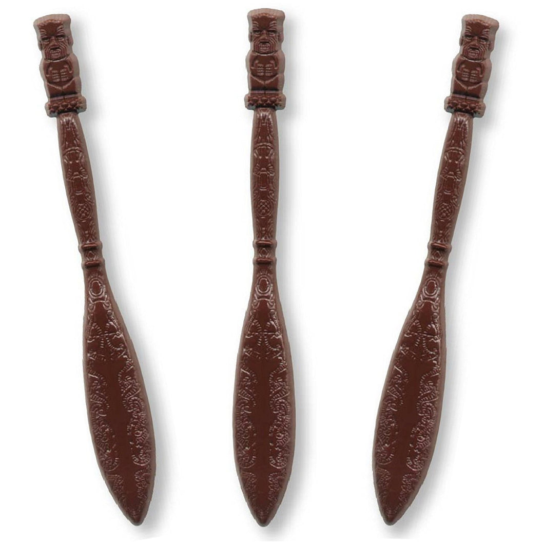 Brown Tiki Paddle Swizzle Sticks