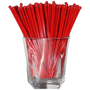 Red Round Swizzle Sticks