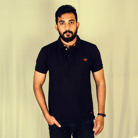 Black Classic short sleeve polo