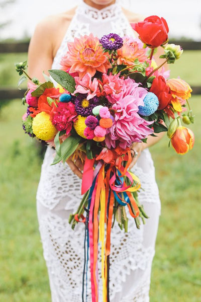 very colorful bouquet