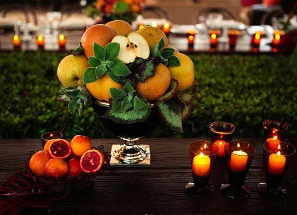 fruits and vegetables centerpiece