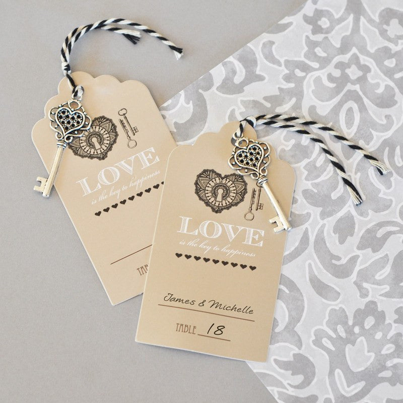 Wedding escort cards key to happiness wedding escort cards junglespirit Images