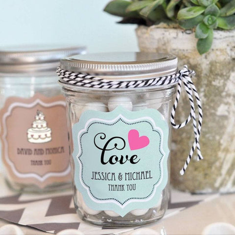 Personalized Mason Jar Wedding Favors