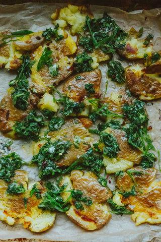 Smashed Potatoes with Herbs