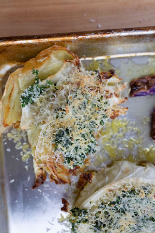 Roasted Cabbage with Cheese Recipe