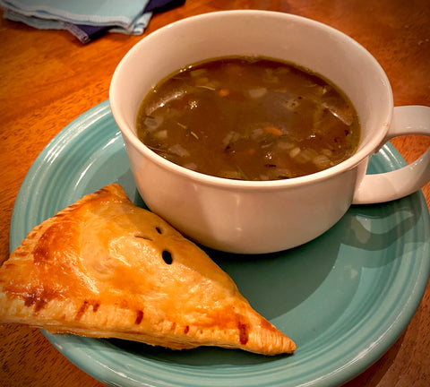 Holiday Leftover Recipe Turkey Orzo Soup and Cranberry Turnovers