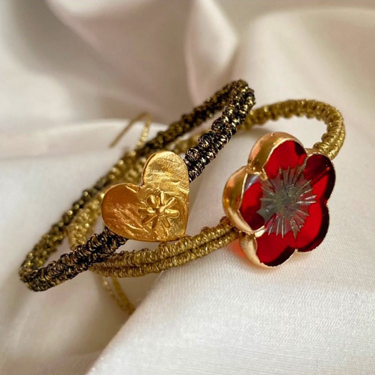 Rose Petal Bracelet - The Power Chic
