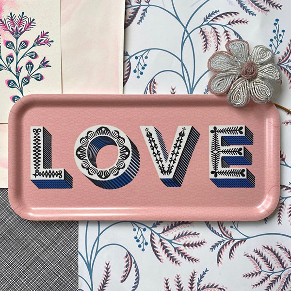 Love Pink Tray - The Power Chic