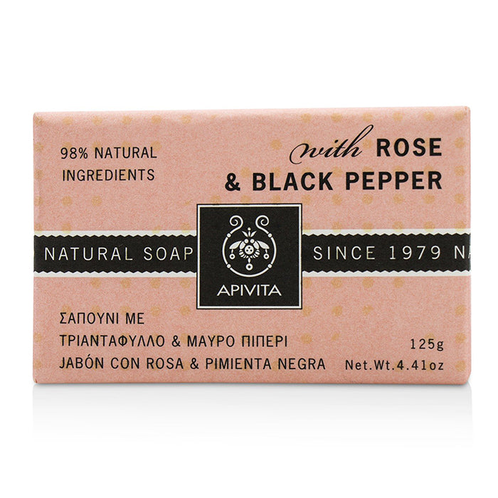 Apivita Natural Soap Rose & Black Pepper