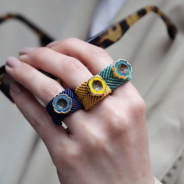 Macrame Ring * more colors available - The Power Chic
