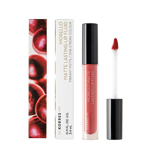 Korres Morello Matte Lasting Lip Fluid - The Power Chic