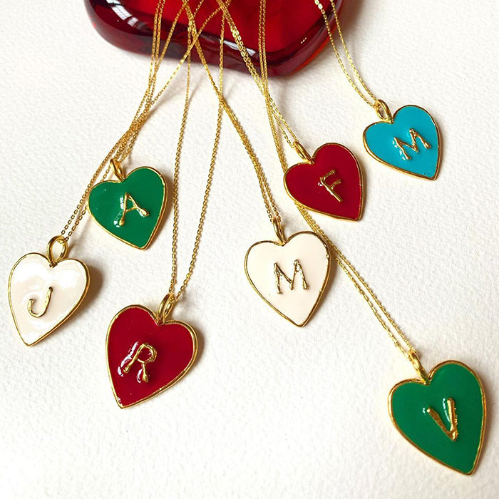 Heart Letter Necklace - The Power Chic