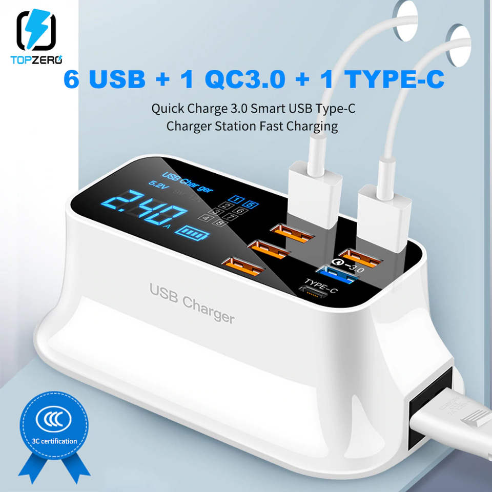 Octa Port - 8 USB Port Charger