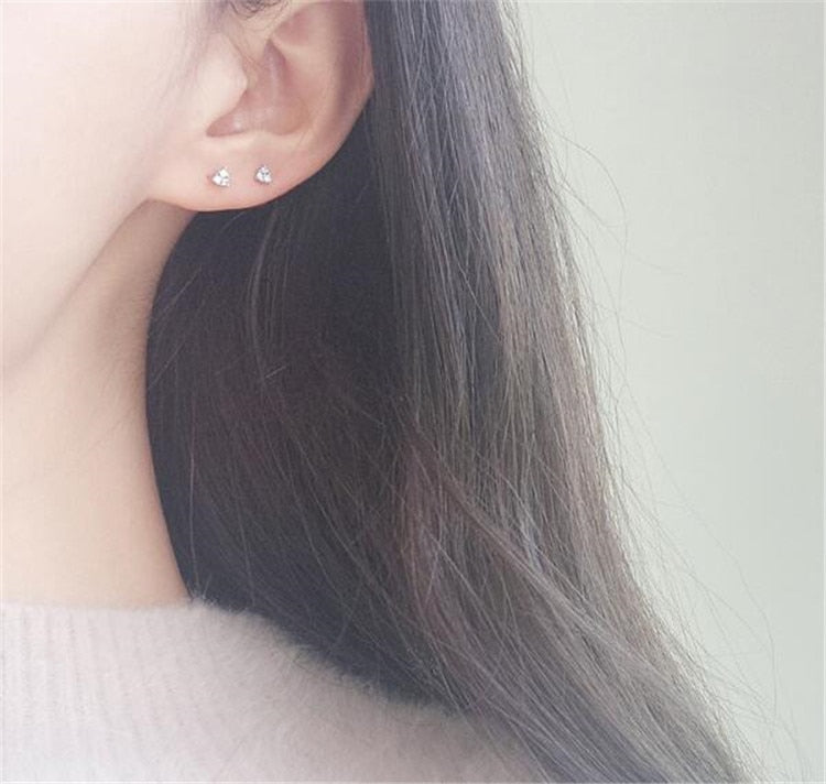 925triangle earrings