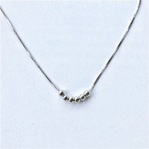 925silver simple small ball transfer beads necklace