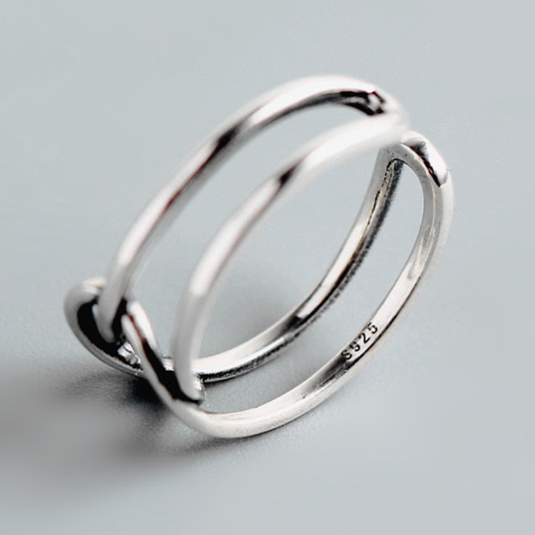 925 heart-shaped open ring