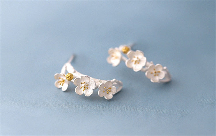 925 fresh temperament earrings