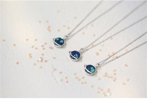925color dreamy cute planet necklace