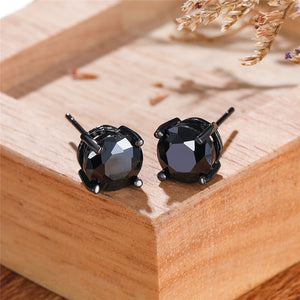 Black Gold Small Stud Earrings
