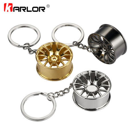 Auto Car Key Ring Wheel Hub Styling Keychain Holder Stainless Steel Anti-Drop Universal Automobiles Car Styling Car Accessories