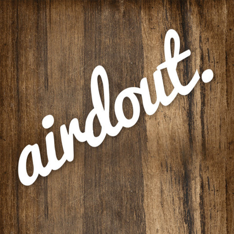 "AirdOut Cursive 5"" Die-Cut Decal"
