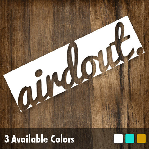 "AirdOut Reverse Box 6.5"" Die-Cut Decal"