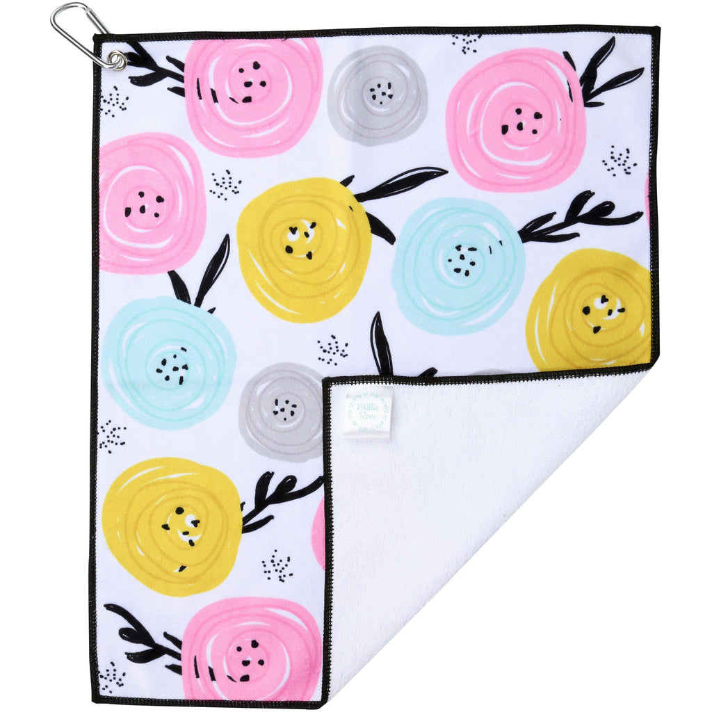 All Buttoned Up! Microfiber Golf & Tennis Towel-Golf Towel-Millie Rose Designs