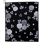 Black and White Roses Unique Womens Golf Towel & Tennis Towel