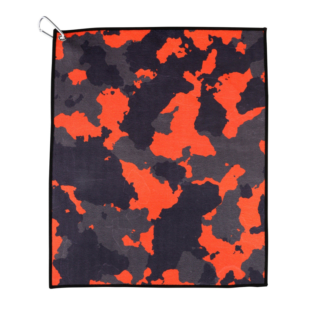 Crazy Camo Microfiber Cotton Golf and Tennis Towel with Carabiner Clip-Golf Towel-Millie Rose Designs