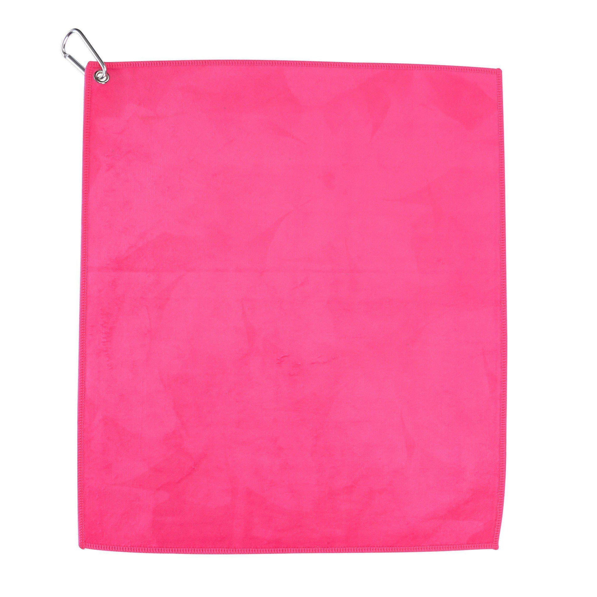 Hot Pink Microfiber Cotton Golf & Tennis Towel-Golf Towel-Millie Rose Designs