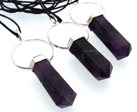 Amethyst Double Terminated Gemstone Pendant