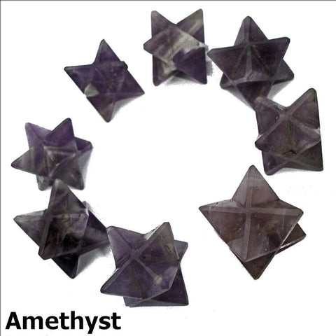 Amethyst Polished Merkaba Star