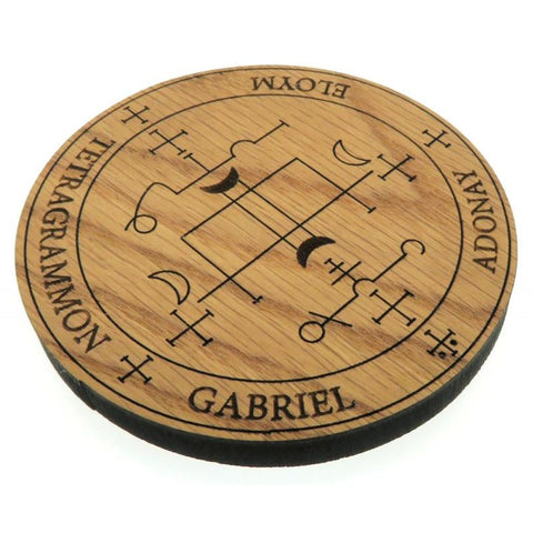 Oak Veneer Angel Gabriel Crystal Grid Board