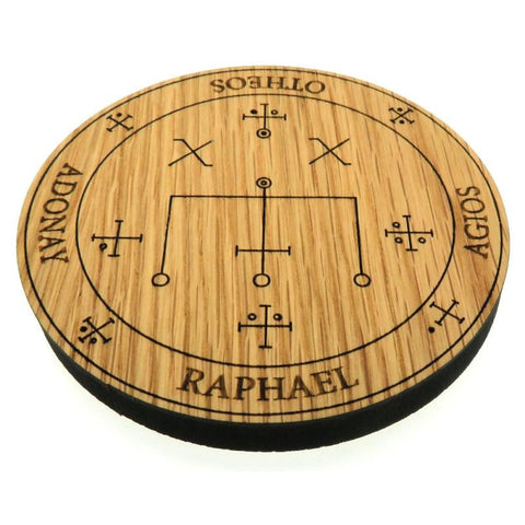 Oak Veneer Angel Raphael Crystal Grid Board