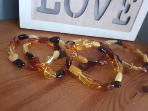 Natural Baltic Amber Bead Bracelet