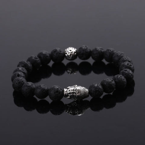 Lava Rock Buddha Bracelet - The Crystal Healing Shop