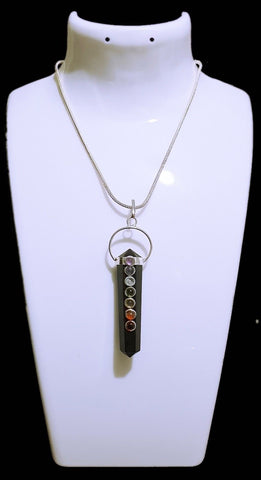 Black Tourmaline Chakra Point Pendant