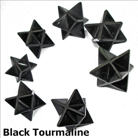 Black Tourmaline Polished Merkaba Star