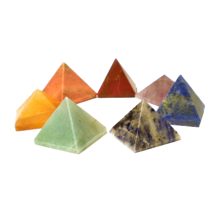 Chakra Pyramid Set - The Crystal Healing Shop