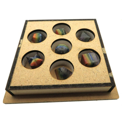 7 Chakra Gemstone Sacred Geometry Boxed Set