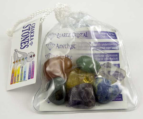 Chakra Set in Wash Bag - The Crystal Healing Shop